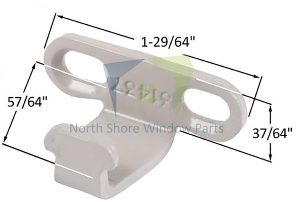 Sash Lock Keeper (Slotted Hole) (Truth Hardware 31437) 1